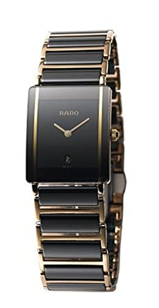 e571aac45 Image Unavailable. Image not available for. Color: Rado Watches Rado  Integral Super Jubile Mid Size Black Tone Ceramic with Gold Trim Men's Watch