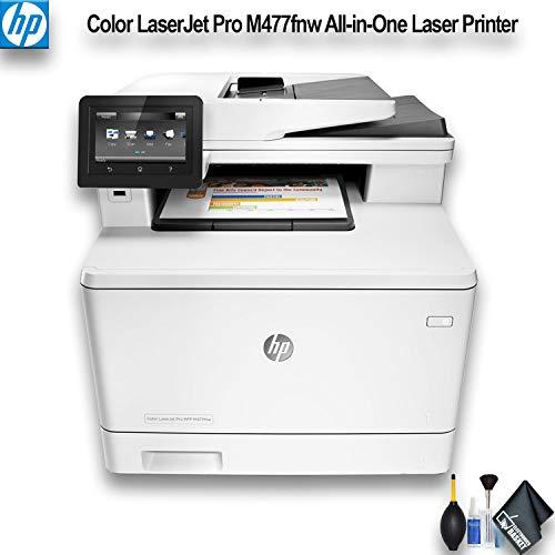 HP Color Laserjet Pro M477fnw All-in-One Laser Printer (CF377A) Essential Bundle