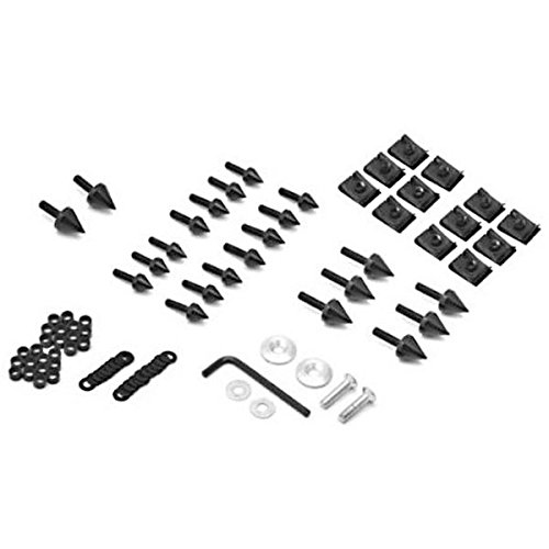 Krator FRB015-B Black Fairing Bolts (1998-2002 Kawasaki Ninja ZX6 / ZX6R ZX9R Spike Screw Kit 1998-2003)