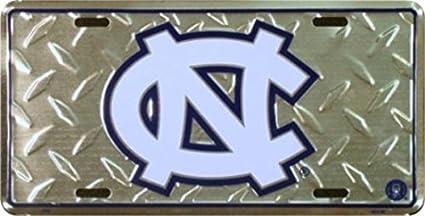 NCAA North Carolina Tar Heels Diamond Plate Car Tag