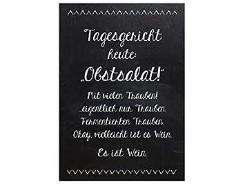 INTERLUXE 42x30cm Shabby Holzschild TAGESGERICHT HEUTE OBSTSALAT ...