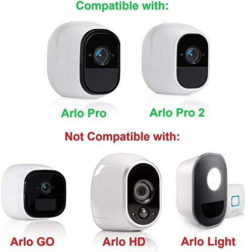 Wasserstein 4 x Silicone Skins with sunroof Compatible with Arlo Pro & Arlo Pro 2 Smart Security - 100% Wire-Free Cameras (Black)