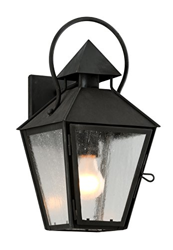 Troy Lighting B6581CI Allston Outdoor Wall Sconce, Charred Iron Finish (Outdoor Lighting Troy Iron)