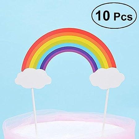 Yonsenner - Decoración para tarta con diseño de arcoíris con ...