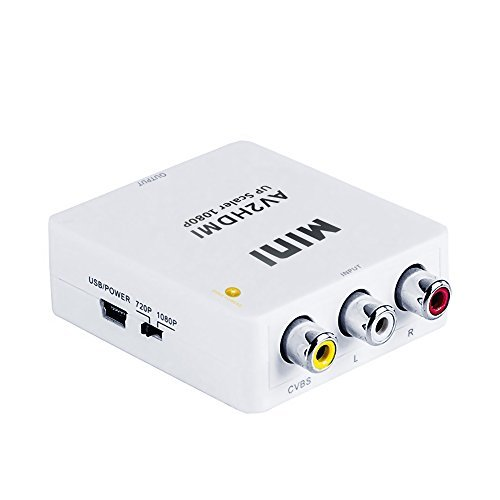 AV to HDMI Converter, Superior Composite 3 RCA / AV to Full HD HDMI Converter Upscaler 1080P, Supports PAL, NTSC, SECAM for TV/ PC/ PS3 / STB/ Xbox / DVD ()