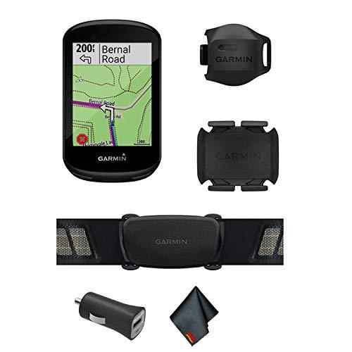 Garmin Edge 830 GPS Cycling/Bike Computer Sensor Bundle with Universal USB 2- Port Car Charger and More ()