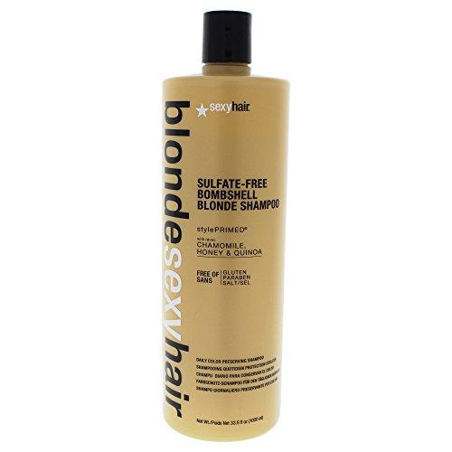 Blonde Hair Bombshell (Sexy Hair Bombshell Blonde Shampoo, 33.8 Fluid Ounce)