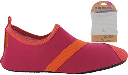 with Womens Shoe Fushia FITKICKS Grey Orange Shoes Wallet FITWRIST fEqCSx4