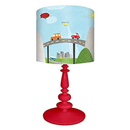 Oopsy Daisy Nb14947 From Here To There On Resin Red Base Table Lamp