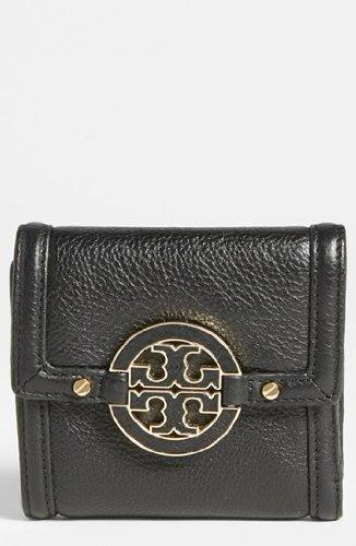 Tory Burch Amanda Trifold French Wallet Black