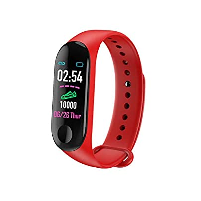 DMMDHR Smart Wristband Heart Rate Blood Pressure Monitor Sport Bracelet Activity Smart Band Fitness Tracker Smart Watch Red Estimated Price £32.20 -