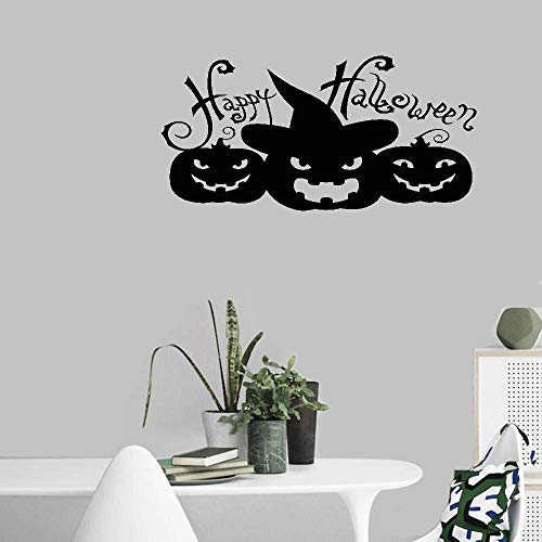 Bluegiants Wall Stickers Art DIY Removable Mural Room Decor Mural Vinyl Happy Halloween with Pumpkin for Halloween Wall Sticker -