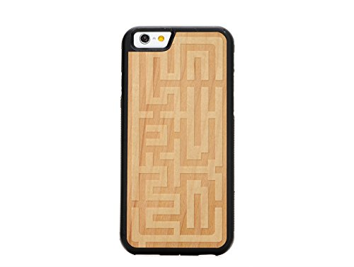 Carved i6-TC1R-E-MAZE Travel Inlay Case for iPhone 6 (4.7)