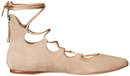 Suede Natural Dark Ballet Nine Women's West Flat Signmeup 0TwUtAq
