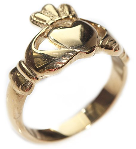 Ah! Jewellery Women's Gold Over Stainless Steel. Celtic Claddagh Ring....