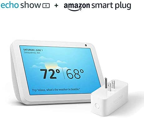 Echo Show 8 Sandstone with Amazon Smart Plug