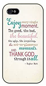 For LG G2 Case Cover Enjoy every single moment. The good, the bad, the beautiful. Megan Matt - black plastic case / Inspirational and motivational
