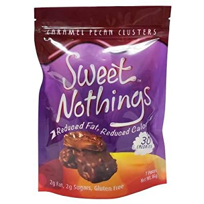 ChocoRite - High Protein Diet Bar | Sweet Nothings Caramel Pecan Clusters | Low Calorie, Low Fat, Sugar Free, (7/Bag)