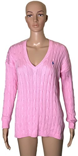 (Polo Ralph Lauren Womens Merino Wool Sweater LightPink)