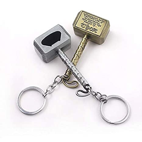 Amazon.com: Avengers Thor Hammer Beer Bottle Opener Keychain ...