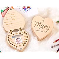 Box for Lost Teeth, Baby Shower Gift Idea - Personalized Wooden Organizer for Baby Teeth