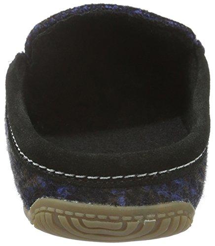 Herren Living Pantoffeln Nachtblau Blau Moccasin Kitzbühel 590 Karo qBaU5
