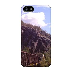 DrunkLove Iphone 5/5s Well-designed Hard Case Cover Train Tracks Over The Potomac Protector