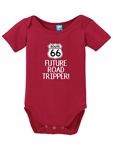 Sod Uniforms Route 66 Future Road Tripper Printed Infant Bodysuit Baby Romper Red 3-6 Month ()