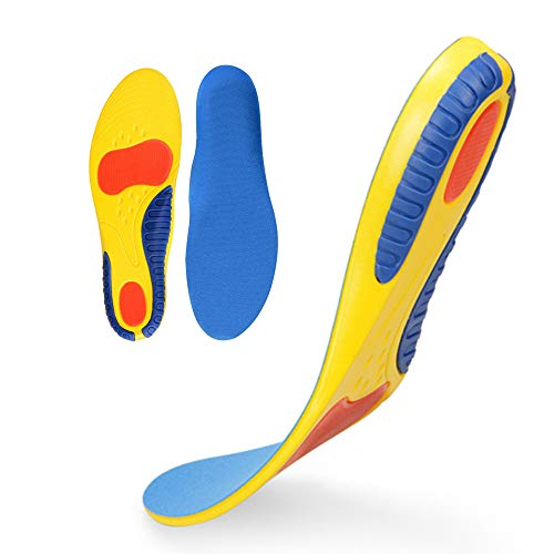 Insoles for Plantar Fasciitis - Foot Arch Support Orthotics Insoles for Men & Women, Shoe Inserts for Relief Flat Feet, Orthopedic Functional Foam Insoles (Yellow, ()