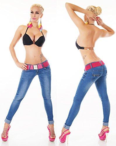 Donna Redseventy Pantaloni unita Jeans Tinta Skinny qZZxFzwg7