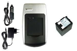 Batería + Cargador para Canon VIXIA HF M400, HF S10, HF S11, HF S20, HF S21, HF S30, HF S100