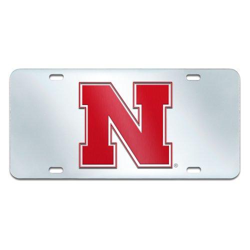 FANMATS NCAA University of Nebraska Cornhuskers Plastic License Plate (Inlaid)