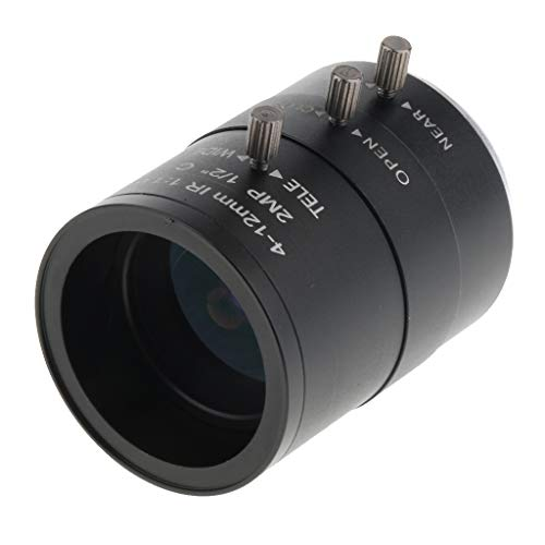 (SM SunniMix 1/2'' 4mm to 12mm 2MP f/1.6 Varifocal C-Mount Manual IRIS Zoom Lens )