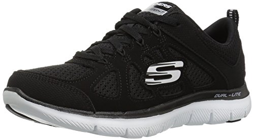 Skechers Sport Womens 12761, Damen Sneaker Schwarz One Size Black/White