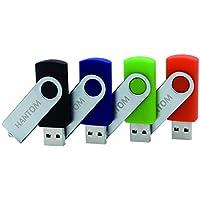 HANTOM 4pack 16GB U-Disk USB Flash Drives Thumb Drive USB 2.0 Memory Stick Swivel Design (USB2.0 4P 16GB)