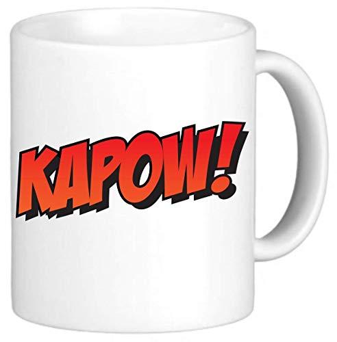 Kapow Superhero Fight Scene Old School Funny Novelty Mug Cup Gift Office Secret Santa