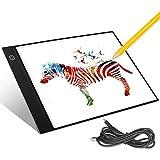 Aitsite Tableros de Dibujo LED Tracking Pad Tableta de Luz A4 Mesa de Luz Niveles de Brillo Ajustables Tableta de Dibujo Animaciones Bocetos X-Ray