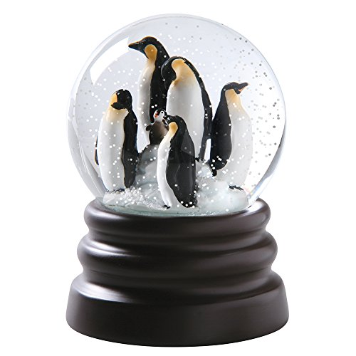 WHAT ON EARTH Musical Snow Globe - Adorable Penguins - Plays Let It Snow