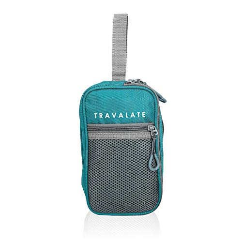 Travalate Polyester Multi Pockets Cosmetic Pouch (Ocean Blue)