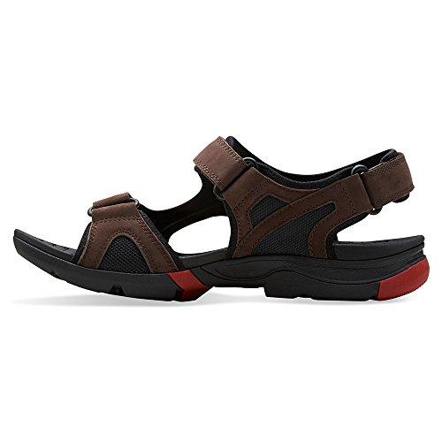CLARKS Men's Wave Tour Sandal Brown Nubuck discount supply amazon footaction sale lowest price sale footaction wtfVdhv