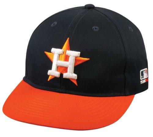Youth Logo Cap (2013 Youth FLAT BRIM NeW LOGO Houston Astros Road NavyBlue/Orange Hat Cap MLB Adjustable)
