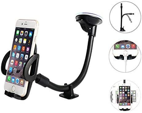Windshield Phone Mount,Washable Strong Sticky Gel Pad with One-Touch Design Dashboard Car Phone Holder
