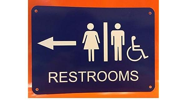PotteLove Cartel de poliestireno para el baño, para Hombres ...