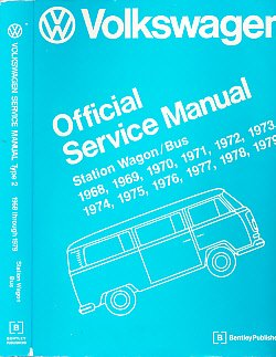 (Volkswagen Station Wagon / Bus. Official Service Manual Type 2. 1968 - 1979)