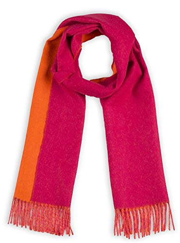 Alpaca Wool Scarf - 100% Pure Baby Alpaca - Double Sided Reversible Contrast Scarf (Raspberry Mimosa) ()