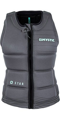 Mystic 2018 Star Womens Front Zip Wake Impact Vest Black 180156 from Mystic