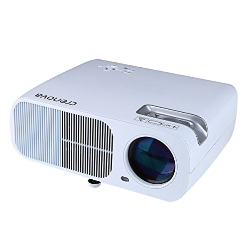 Projector, Crenova XPE600 LED Video Projector 2600 Lumens 800*480 Resolution Office 1080P HD Home Cinema Theater