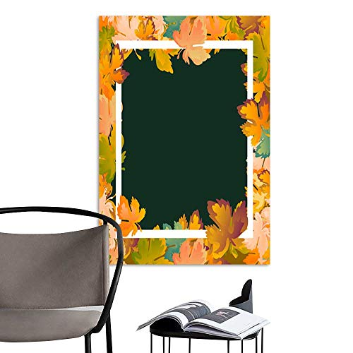background layout decorate leaves shopping sale or promo poster and white frame leaflet web banner Vector illustration template Red yellow and green maple leaf1.jpg Artwork for G ()
