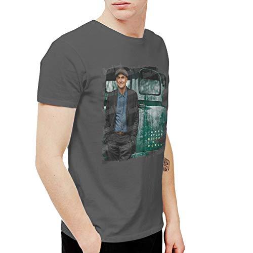 HannahJ Men's James Taylor Before This World T-Shirt Deep Heather XL
