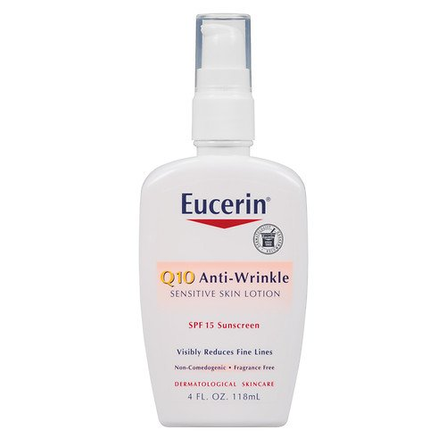 Eucerin Q10 Anti-Wrinkle Sensitive Skin Lotion SPF 15 4 oz (118 ml) package of 2